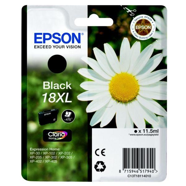 Epson T18114010 (18XL) Bk tintapatron