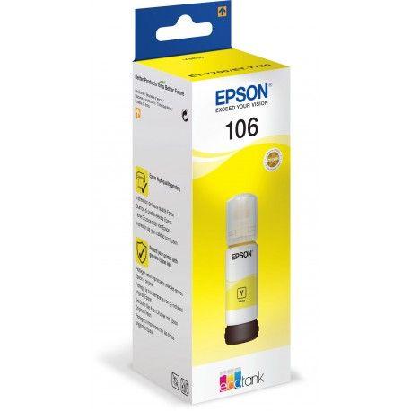 Epson T00R4 sárga tinta No. 106