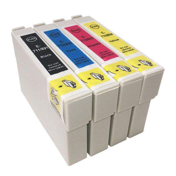 T0711-T0714 utángyártott tintapatron szett 4 db -os
